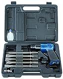 Scheppach Druckluft Meisselhammer Set, enthält 5 Meisseleinsätze und ein  Öl-Fläschchen, 4500 Schläge/Minute, Arbeitsdruck 6,3 bar, Luftbedarf- Ø79,2 L/min