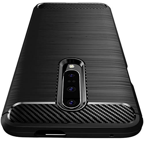 """Garegce Coque OnePlus 7 Pro, Housse Silicone Souple Matte [Ultra Fine] [Anti-Choc et Anti-Rayures] Carbon Fiber TPU Brossé Design,Bumper Protection Cover pour OnePlus 7 Pro (6.67"""")-Noir"""