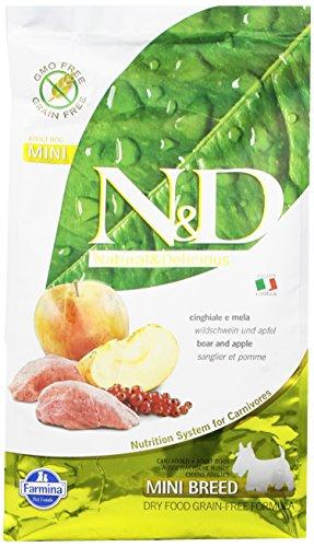 Farmina (Russo Mangimi) - Natural & Delicious Grain Free Adult Mini con Cinghiale e Mela 1 Sacco 2,50 kg