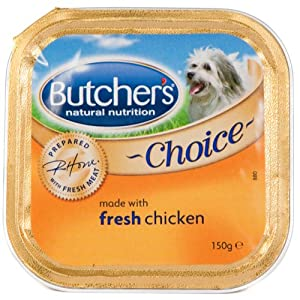 Butchers Choice Chicken Dog Food 12 X 150G
