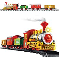 Christmas Workshop Xmas Train Set ~ 3 Carriages ~ Realistic Sounds, Headlights ~ Kids, Toys ~ 81010