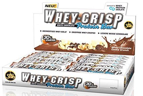 All Stars Whey-Crisp Protein Bar ( 30 x 50g ) Riegel Box Riegel BIG BOX, White Chocolate Cookie Crunch - Whey Crisp