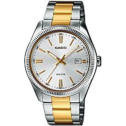 Casio Collection Reloj Analógico de Cuarzo para Hombre con Correa de Acero Inoxidable – MTP-1302PSG-7AVEF