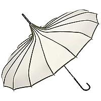 VON LILIENFELD Umbrella Women Bridal Wedding Parasol Pagoda Justine Creme/Black