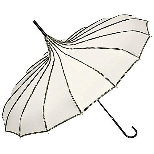 VON LILIENFELD Regenschirm Damen Sonnenschirm Brautschirm Hochzeitsschirm Pagode Ziernähte Justine...