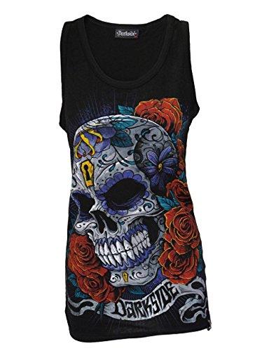 Darkside, Mexican Sugar Skull �?schwarzes Shirt ohne Ärmel Schwarz