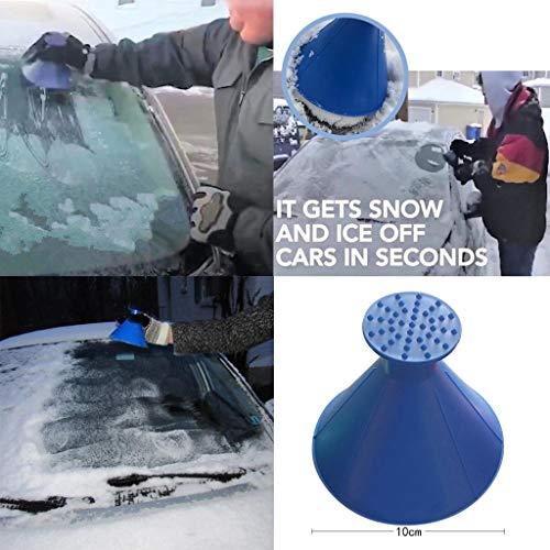 Preisvergleich Produktbild TianranRT Kratzen A Runde Magie Kegelform Windschutzscheibe Eis Schaber Schnee Schaufel Werkzeug Blau