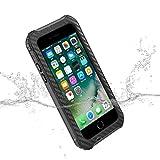 HAMSWAN Coque Étanche pour iPhone 7, Étui Étanche IP68 Certifiée Protection Jusqu'à 3 Mètres Antichoc Anti-Poussière pour iPhone 7 4.7 Pouces
