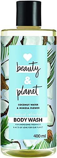 Love Beauty & Planet Coconut Water and Mimosa Flower Aroma Radical Refresher Body Wash, 400 ml