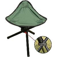 mitefu triangular pequeño taburete silla de trípode Almacenamiento Plegable Portable Seat Child Folding taburete para de interior y exterior de actividades, verde
