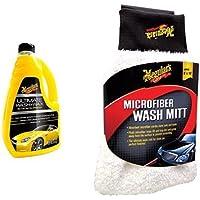Meguiar's 72942 Ultimate Wash&Wax Shampoo con cera + Meguiar's 73529