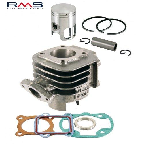 Kit Cylindre RMS 50 CC de Rechange pour AC, 10 mm Axe de Piston Aprilia, Amico (1991–1992), (à partir de 1993), GL, Sport, SR 50 (jusqu'à 1994), MBK, Booster, Slider, Yamaha BWs, Stunt, Target, Zuma
