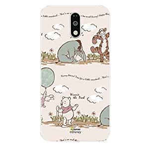 """Hamee Disney Winnie the Pooh & Pals Printed Hard Back Case Cover for Motorola Moto G4 """"Little Smackesel"""""""