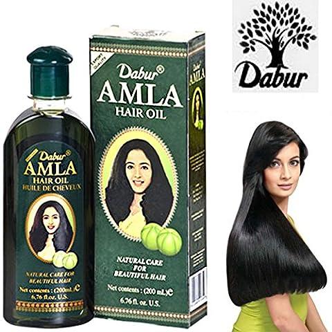 Dabur Amla Haaröl 200ml natürliche Pflege für gesunde Lange und schöne Haar Pflegende Öl verhindern Haarbruch und Haarausfall/Amla Haar Öl für Rapid