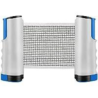 INTVN Red de Tenis de Mesa, Repuesto Portátil Retráctil Table Tennis Net - Ping Pong Net para Entrenamiento Abrazaderas