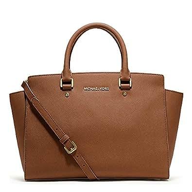 MICHAEL Michael Kors Selma Tan Leather Large Satchel one size Tan