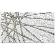 Interdesign, Tappeto in microfibra, Grigio/Bianco