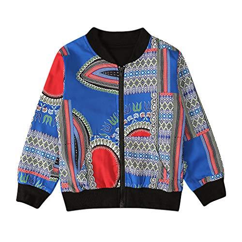 squarex ® Boy Herbstmantel Kleinkind Afrikanischer Winddichter Mantel Kinder Warme Oberbekleidung Mädchen Langarm Jacke Position Bedruckte Jacke