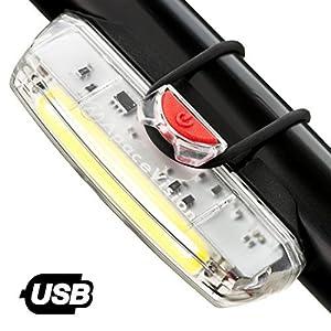 Luz de Bicicleta Delantera Recargable USB Apace Illuma ZT3000 Potente LED faro Delantero Bici Lúmenes de Alta Potencia Muy Brillantes para Seguridad de Ciclismo Óptima hasta 12 Horas