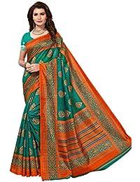 PRAMUKH STORE Sampoorna Green Sarees For Women Latest Design Sarees New Collection 2018 Sarees Below 1000 Rupees...
