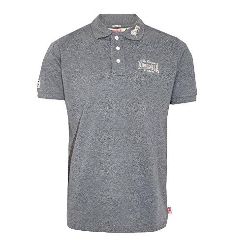 Lonsdale London Herren Oberteile/Poloshirt Dagenham Slim Fit Grau