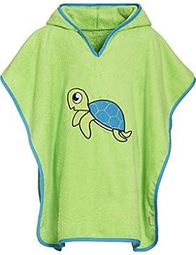 Playshoes Jungen Bademantel Kinder Frottee-Poncho, Badeponcho Schildkröte mit Kapuze