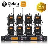 Beste Klangqualität! Professionelles UHF-In-Ear-Monitor-System Dual Channel Monitoring ER-2040 Typ für Bühnenaufzeichnung Studioüberwachung (SR2050 Update-Typ) (mit 8 Empfänger)