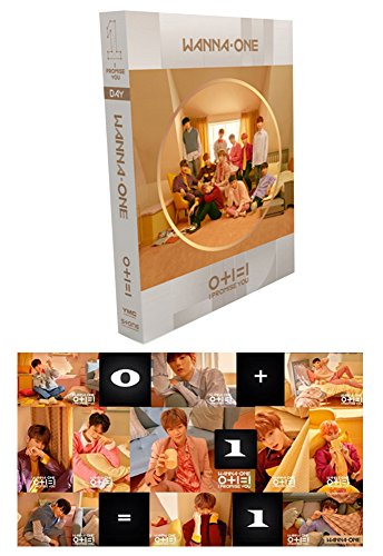 WANNA ONE I PROMISE YOU KPOP 0+1=1 2nd Album [DAY ver.] CD Music + Official Poster+ Photobook + Photo Card + Mirror Card + Tazo + Gift (4 Photo Cards) Sealed