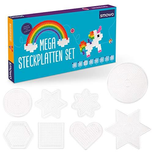 en Platten in vielen Formen - Steckplatten Set - Stifftplatten - Rund, Stern, Viereck, Sechseck, Herz, Blume ()
