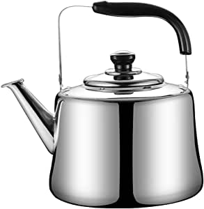 XQKQ Bollitore Bollitore per Il tè Fornello a induzione in Acciaio Inossidabile Gas Generale Automatico Fischietto Sanitario Bollitore per la casa Bollitore, 3L, 3L, Bollitore in Acciaio inossidab