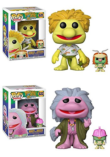 Funko POP Fraggle Rock Wembley with Cotterpin Mokey with Doozer Vinyl Figure Set NEW