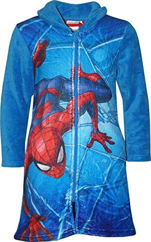 Marvel HS2055 Spiderman - Albornoz para niño Forro Polar Azul Azul 4 años