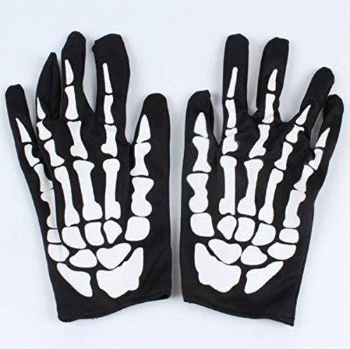 ween Schwarz Weiß Skeleton Handschuhe Geister Kleidung Passend Geist Knochen Kostüm Zubehör Home Event Festliche Partei Liefert ()