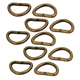 sourcing map 10Stk.Bronze 10mm innere Breite Eisen Metall Runde D geschweißte Ring DE de