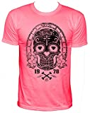 NEON Diamond-eyes Party Herren T-Shirt,neonpink,XL