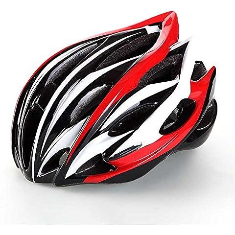 oeste biking Integrally-molded Ciclismo Casco PC + EPS bicicleta fracción bicicleta Road/Racing Ciclo Thrasher–Cascos uso dual capacete, hombre Niño juventud unisex Mujer, rojo