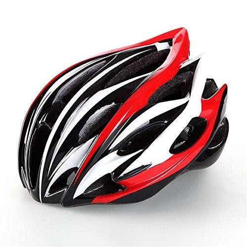 West da ciclismo Bike, BMX, mountain Caschi in PVC per bicicletta MTB Ciclismo Strada avventura Feature Casco misura: 57-62cm capacete, uomo bambino Ragazzo unisex adulto donna, Red