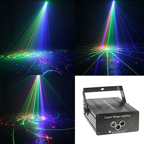 FUTER Disco Lichter Musik aktivieren Bühnenlampe Party Auto Farbe Lichteffekt for Urlaub Geburtstag (Laser-licht-show-maschine)