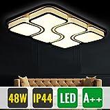 HG® LED 48W Deckenlampe Geschäft Energiespar Warmweiß Beleuchtung Energiesparende wohnzimmer