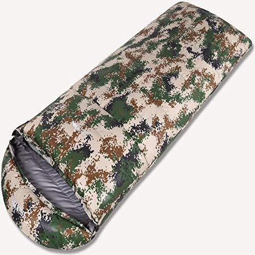 BENPAO Camouflage-Schlafsack Camouflage-Umschlagbeutel für eine Person mit Tragetasche für Kinder oder Erwachsene Entendaunen Leicht und kompakt Geeignet für Camping - Kids Camo Schlafsack