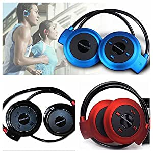 Mobile Link Neckband Mini Wireless Sport Bluetooth Headset/headphone (Multi-color) Music Stereo Bluetooth Earphone Micro SD Card Slot Compatible for LG L80 Dual