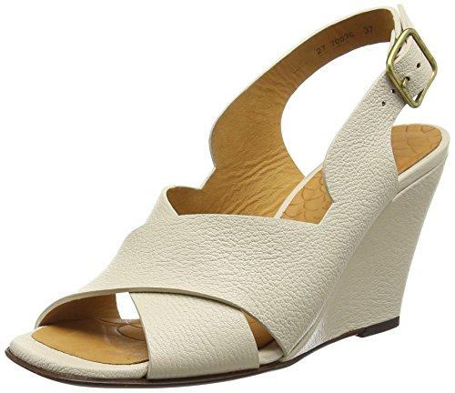 Chie Mihara Carly, Sandales Compensées femme Blanc Cassé - Off White (Cancun Leche)