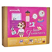 Fashion Themed Art and Craft Kit for Girls | 6 Activities-in-1 | Best Girl Gift for Ages 4 to 8 Years | Includes Beautiful Felt and Foam Embellishments (Little Fashionista 6-in-1)