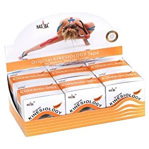 Nasara M90500 Original Kinesiology Tape, 6er-Box (5 cm x 5 m)