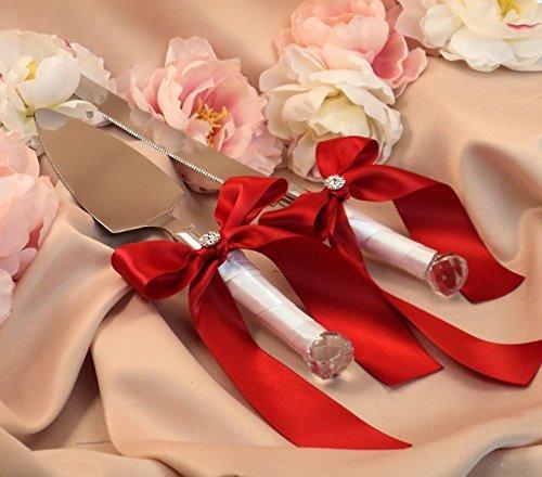 Zantec Hochwertigen Romantische Kuchen Messer Schaufeln Schleife für Hochzeit und Party