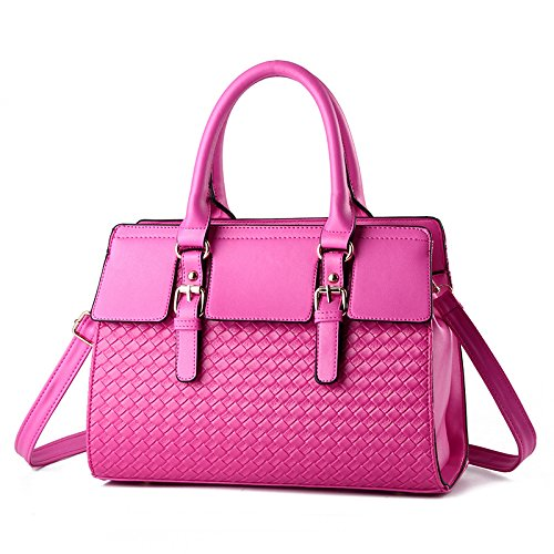 GUANGMING77 Ms _ Borsetta Borsa Borsa Tracolla Lady,Nero Rose red