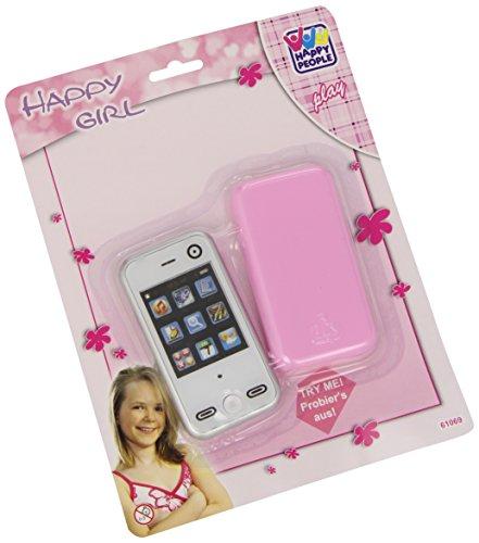 Happy People 61069 - Teléfono móvil de juguete con funda (8 cm), col