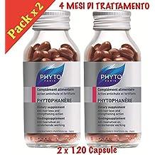 Phyto Phytophanere Integratore Alimentare Capelli e Unghie - 4 MESI di  TRATTAMENTO - 120 + 120 41232424cddb