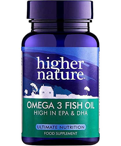 Higher Nature Omega 3 Fish Oil – Omega 3 Cápsulas de aceite de pescado - 180 caps
