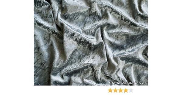 ab 1m: Pannesamt Spitzenqualit/ät 150cm breit grau